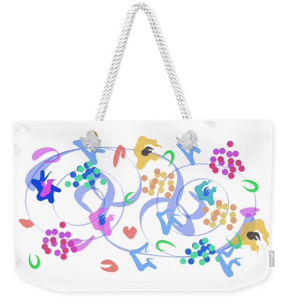 Weekender Tote Bag featuring the digital art Abstract Garden Nr 6 by Bee-Bee Deigner