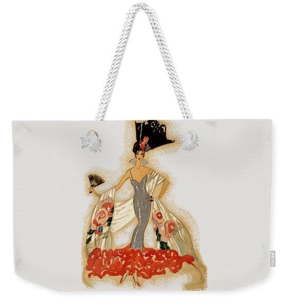 Elegant Woman Weekender Tote Bag