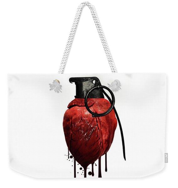 Heart Grenade Weekender Tote Bag