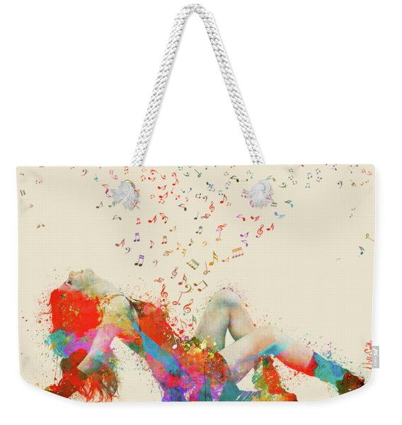 Sweet Jenny Bursting With Music Weekender Tote Bag