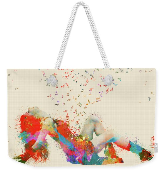 Sweet Jenny Bursting With Music Weekender Tote Bag