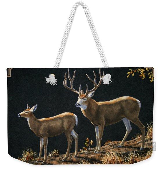 Mule Deer Ridge Weekender Tote Bag