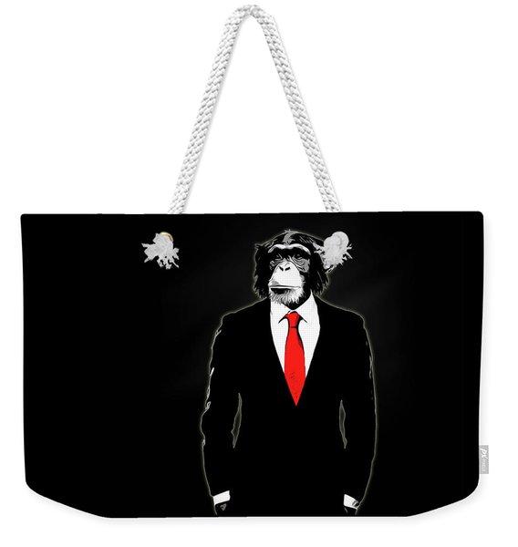 Domesticated Monkey Weekender Tote Bag