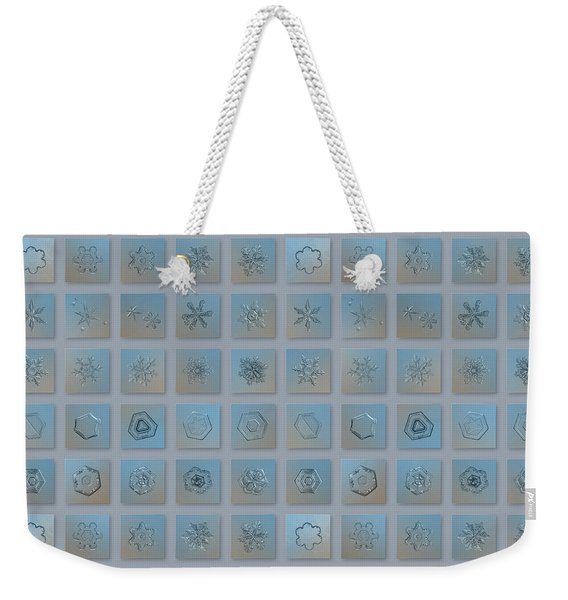 Snowflake Collage - Season 2013 Bright Crystals Weekender Tote Bag