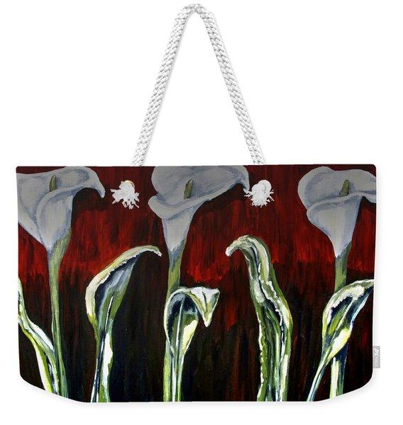 Arum Lillies Weekender Tote Bag