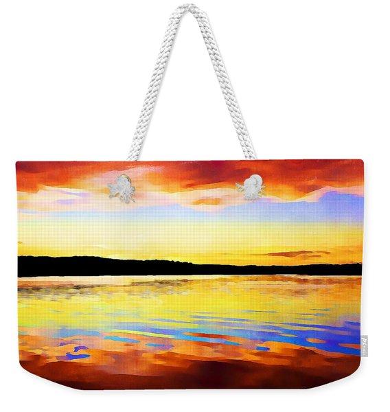 As Above So Below - Digital Paint Weekender Tote Bag