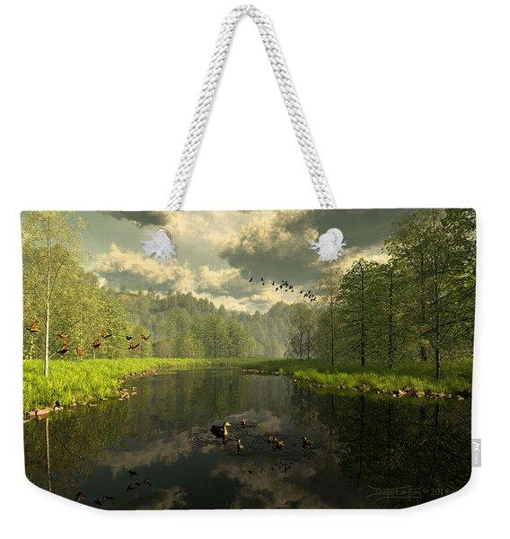 As The River Flows Weekender Tote Bag