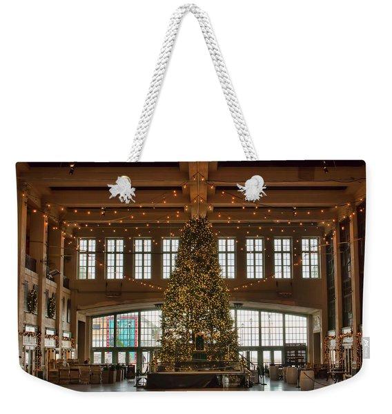 Asbury Boardwalk Christmas Tree Weekender Tote Bag