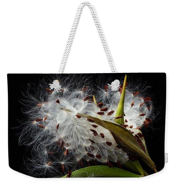 Asclepias Seed Pod Weekender Tote Bag