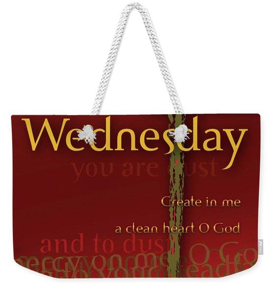 Ash Wednesday Weekender Tote Bag