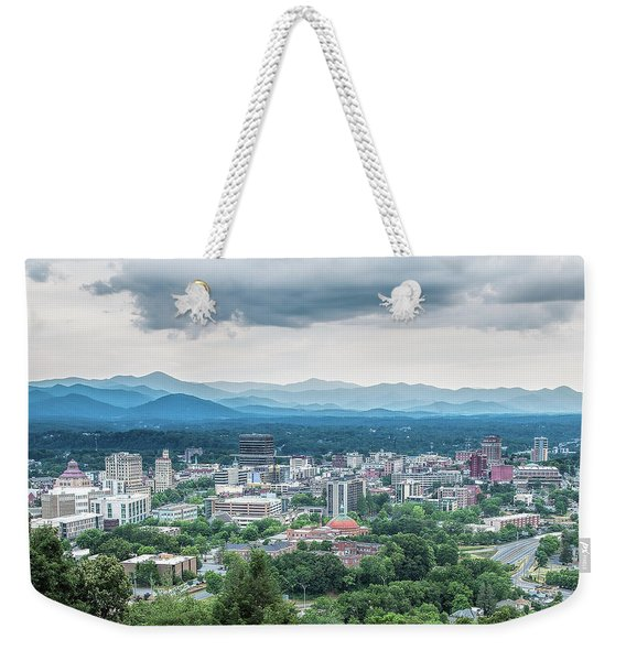 Weekender Tote Bag featuring the photograph Asheville Afternoon Cropped by Jemmy Archer