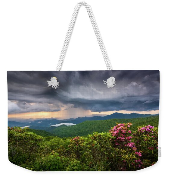 Asheville North Carolina Blue Ridge Parkway Thunderstorm Scenic Mountains Landscape Photography Weekender Tote Bag