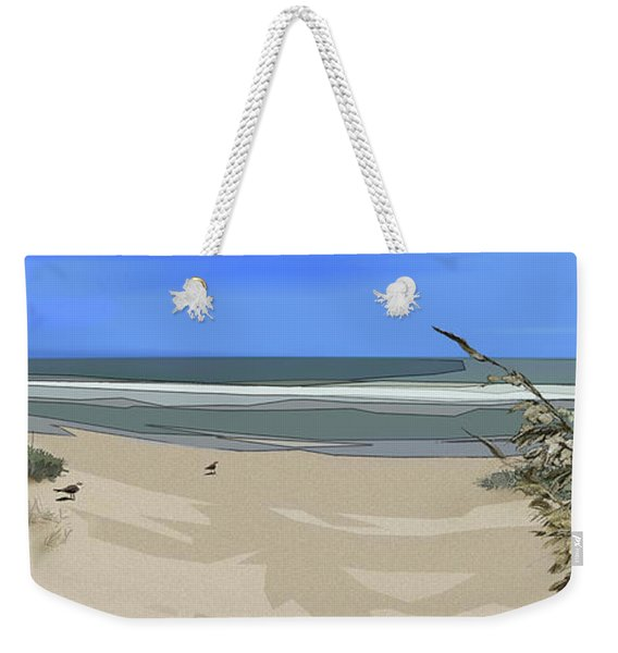 Weekender Tote Bag featuring the digital art Ashore by Gina Harrison