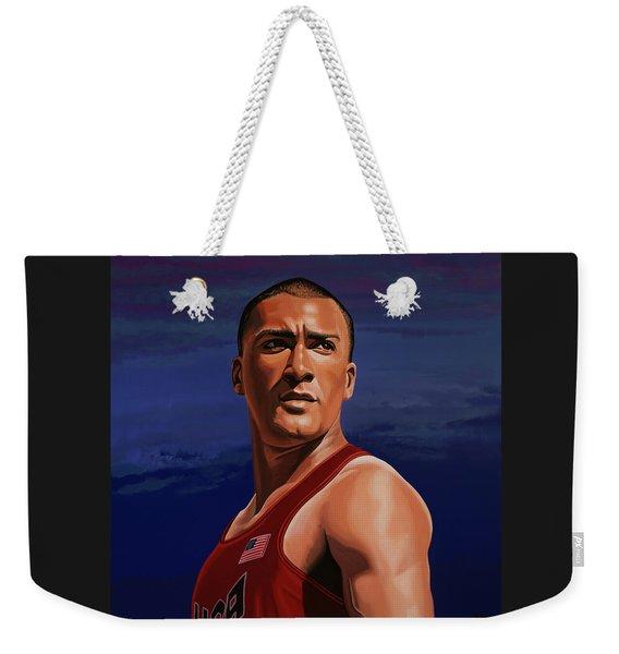Ashton Eaton Painting Weekender Tote Bag