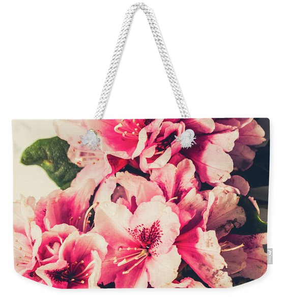 Asian Floral Rhododendron Flowers Weekender Tote Bag