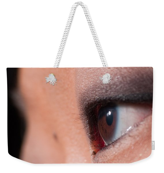 Asian Girl Eyes 1283053 Weekender Tote Bag