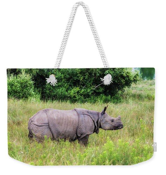 Asian Rhinoceros Weekender Tote Bag