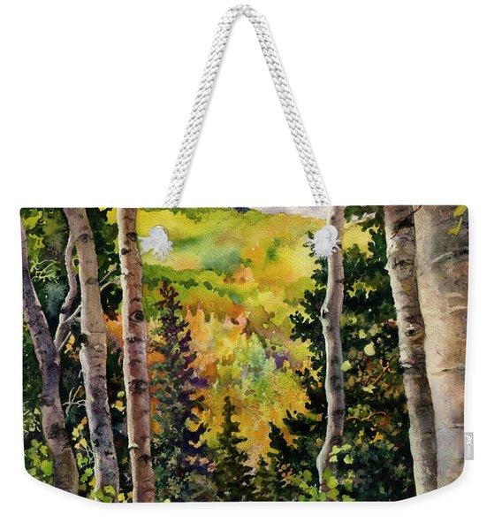 Aspen Afternoon Weekender Tote Bag
