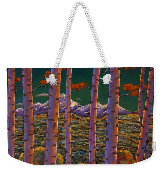 Aspen At Night Weekender Tote Bag