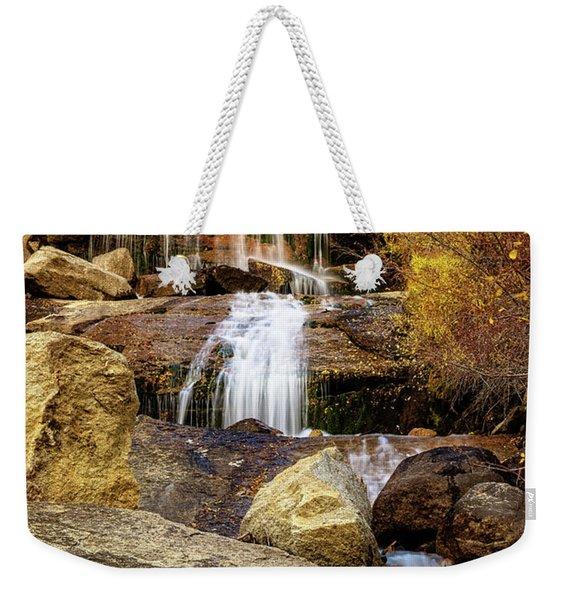 Aspen-lined Waterfalls Weekender Tote Bag