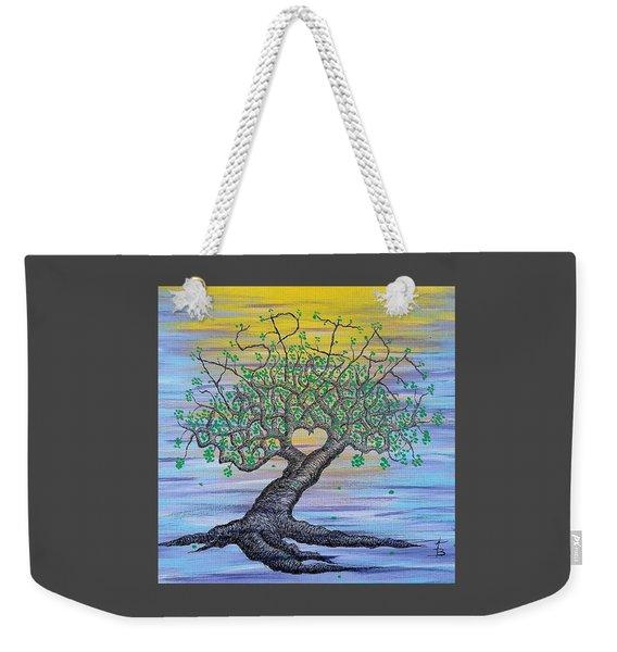 Weekender Tote Bag featuring the drawing Aspire Love Tree by Aaron Bombalicki