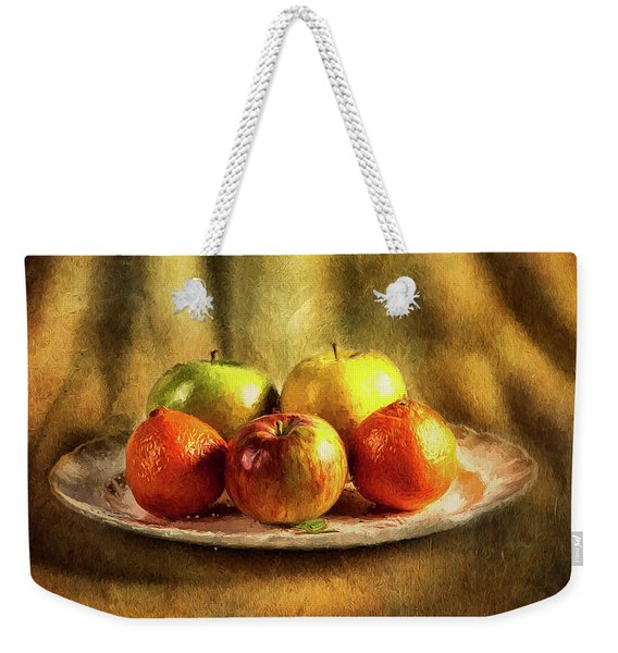 Assorted Fruits In A Plate Weekender Tote Bag