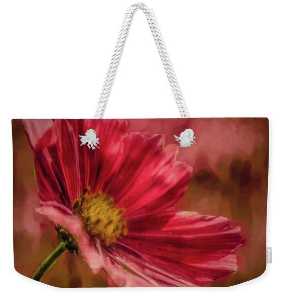 Aster Red Painterly #h1 Weekender Tote Bag