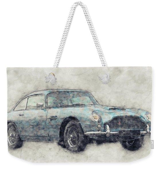 Aston Martin Db5  1- Luxury Grand Tourer - Automotive Art - Car Posters Weekender Tote Bag