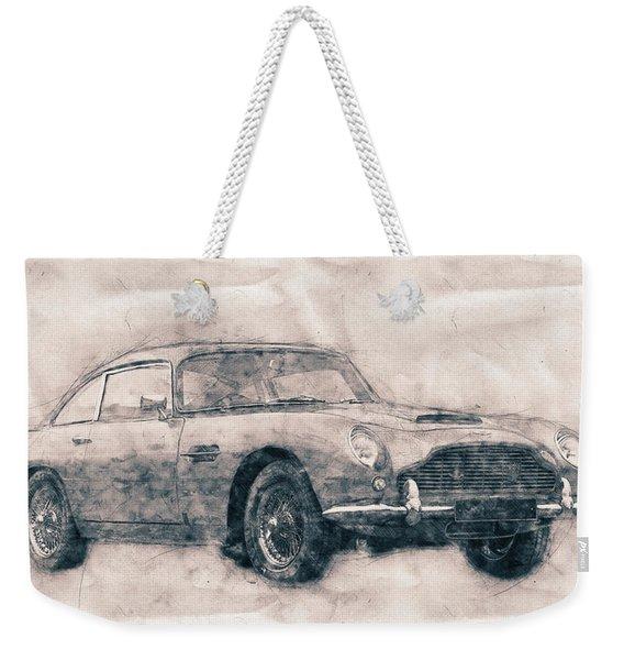 Aston Martin Db5 - Luxury Grand Tourer - Automotive Art - Car Posters Weekender Tote Bag