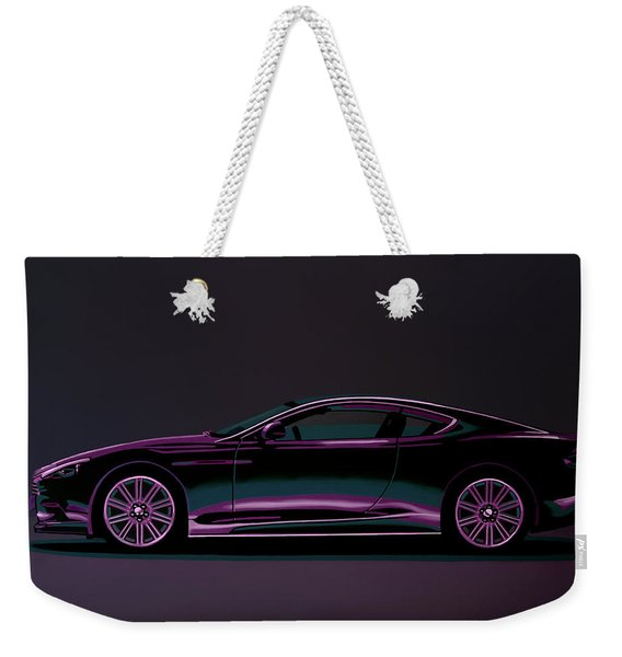 Aston Martin Dbs V12 2007 Painting Weekender Tote Bag