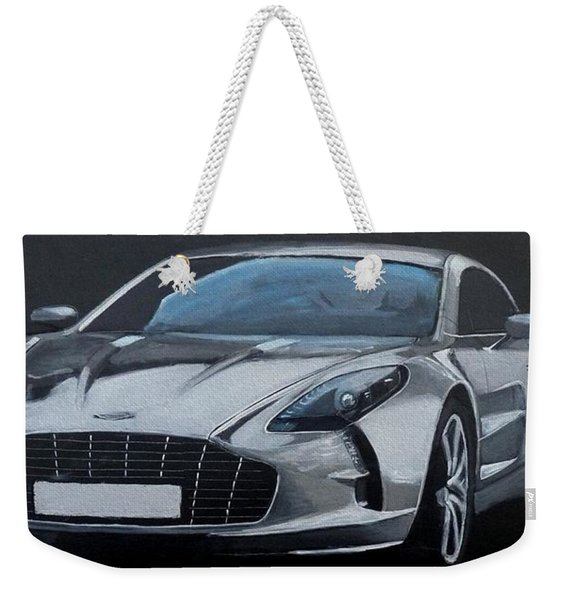 Weekender Tote Bag featuring the painting Aston Martin One-77 by Richard Le Page