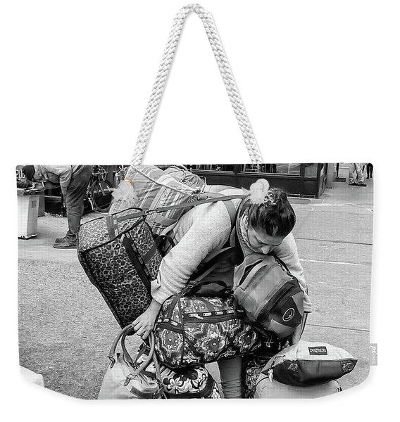 Bag Lady Weekender Tote Bag