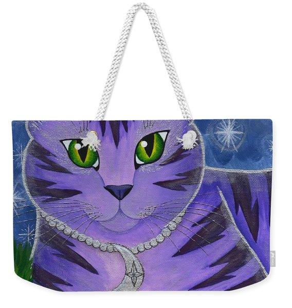 Astra Celestial Moon Cat Weekender Tote Bag