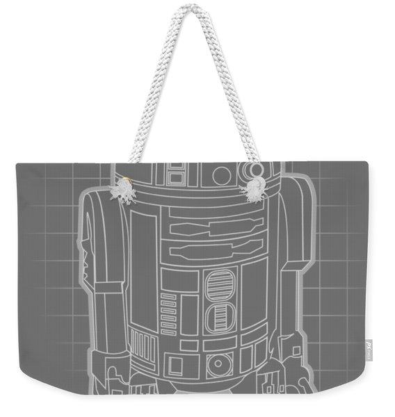 Astromech Blueprint Weekender Tote Bag