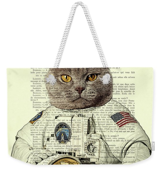 Astronaut Cat Illustration Weekender Tote Bag
