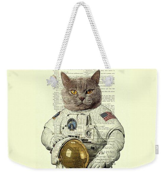 Astronaut Cat Illustration Weekender Tote Bag