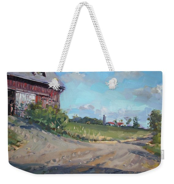At Barn In Georgetown On Weekender Tote Bag