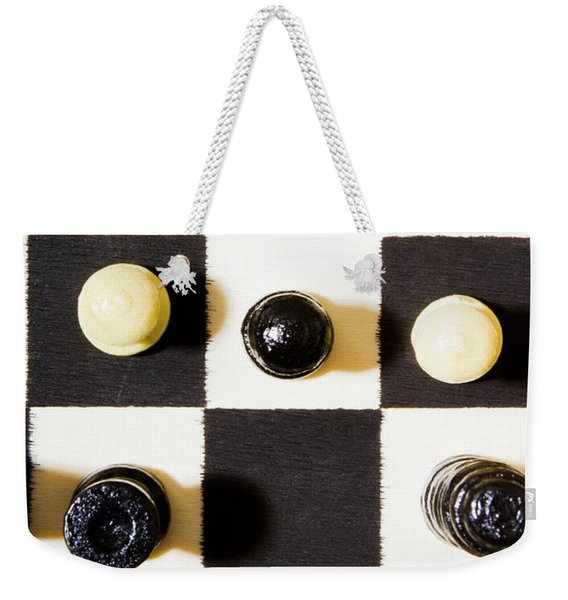 At Chequered Play Weekender Tote Bag