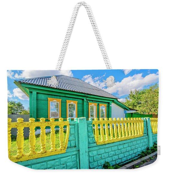 At Home In Belarus Weekender Tote Bag