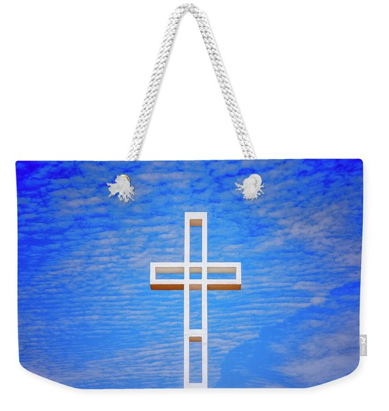 Cross In The Sky Weekender Tote Bag