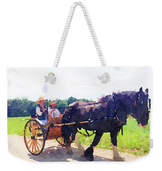 Horse And Buggy At Mount Vernon Weekender Tote Bag