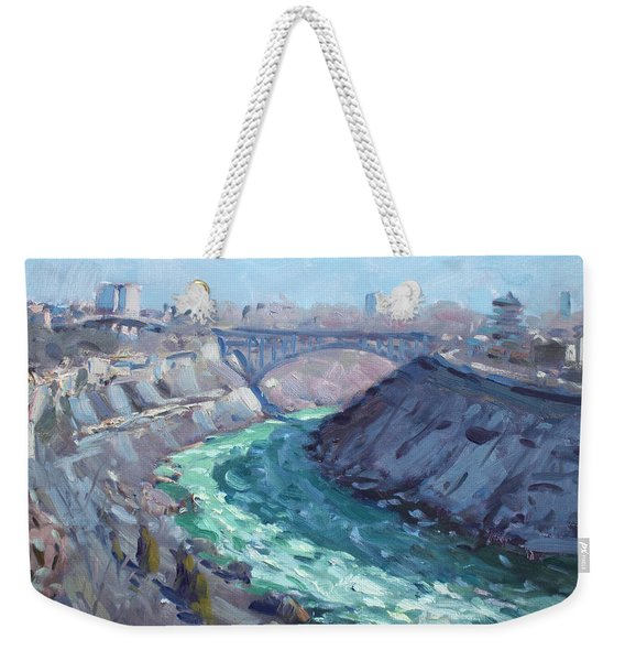 At Niagara Gorge Weekender Tote Bag