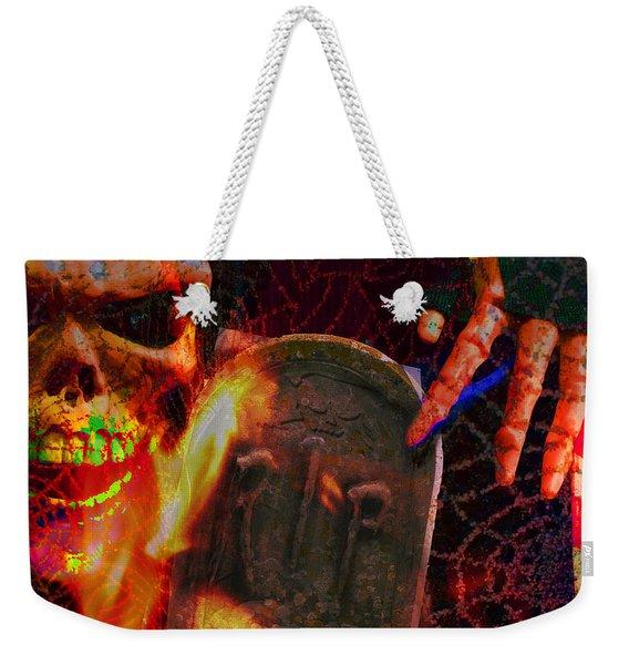 At Night In The Graveyard Weekender Tote Bag