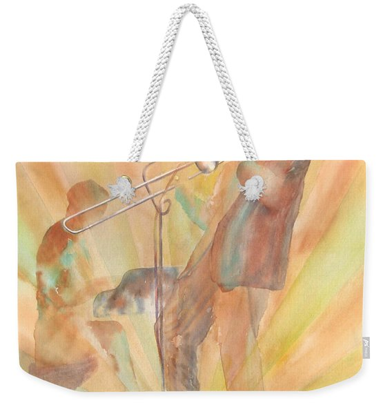 At One With The Music Weekender Tote Bag