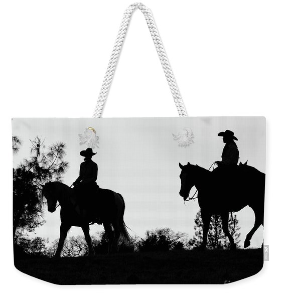 At Sunset On The Ranch Weekender Tote Bag