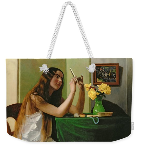 At The Dressing Table Weekender Tote Bag