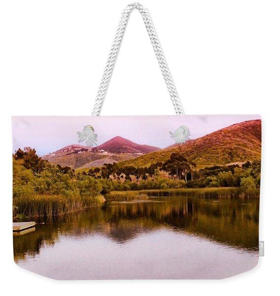 At The Lake Weekender Tote Bag