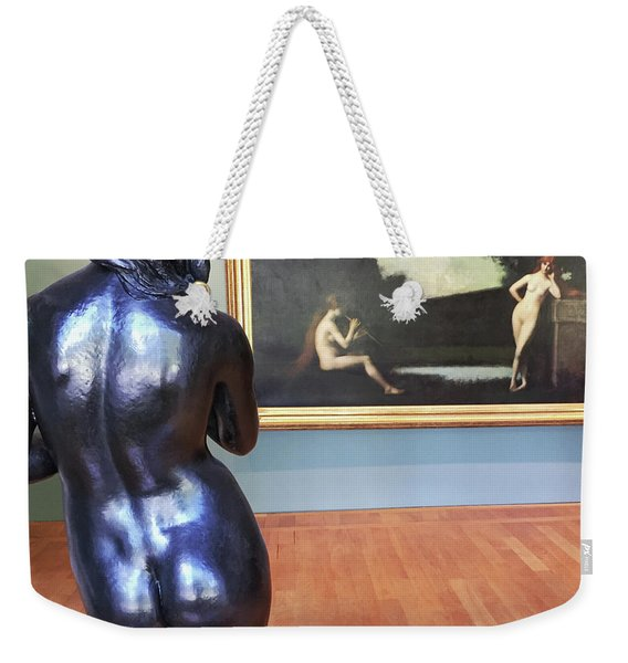 Weekender Tote Bag featuring the photograph At The Petite Palais Museum, Paris by Frank DiMarco