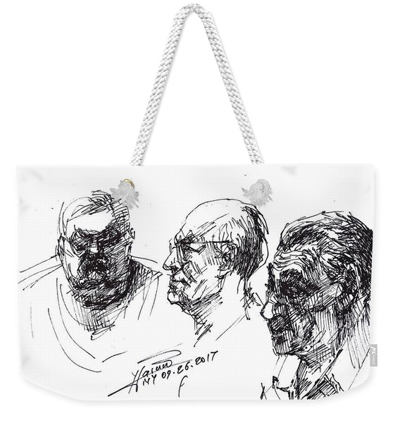At Tim Hortons 3 Weekender Tote Bag