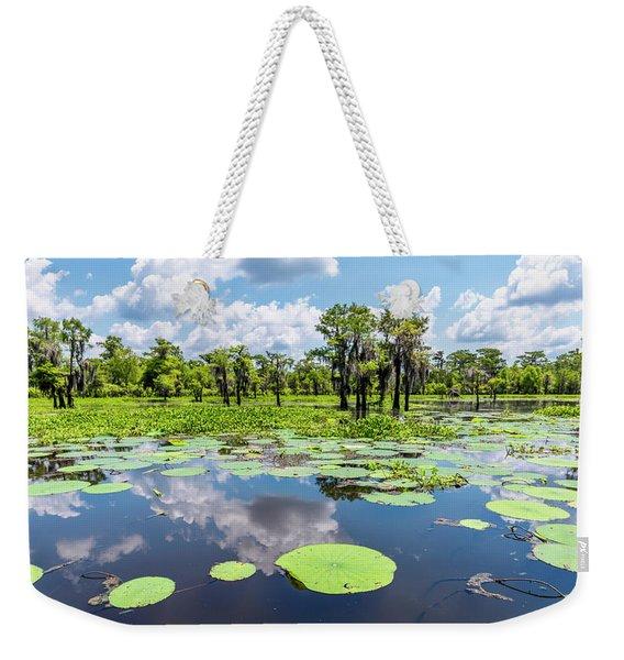 Atchaflaya Basin Reflection Pool Weekender Tote Bag